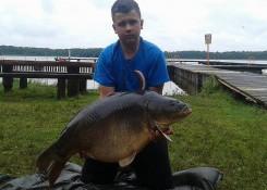 Karp 22,2kg, CF Homar&Rak+Perfection Pop up Czarny halibut